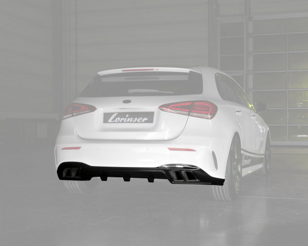 Rear Diffusor with Tailpipes